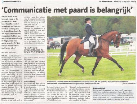 De Nieuwe Krant, 14-8-2013 site