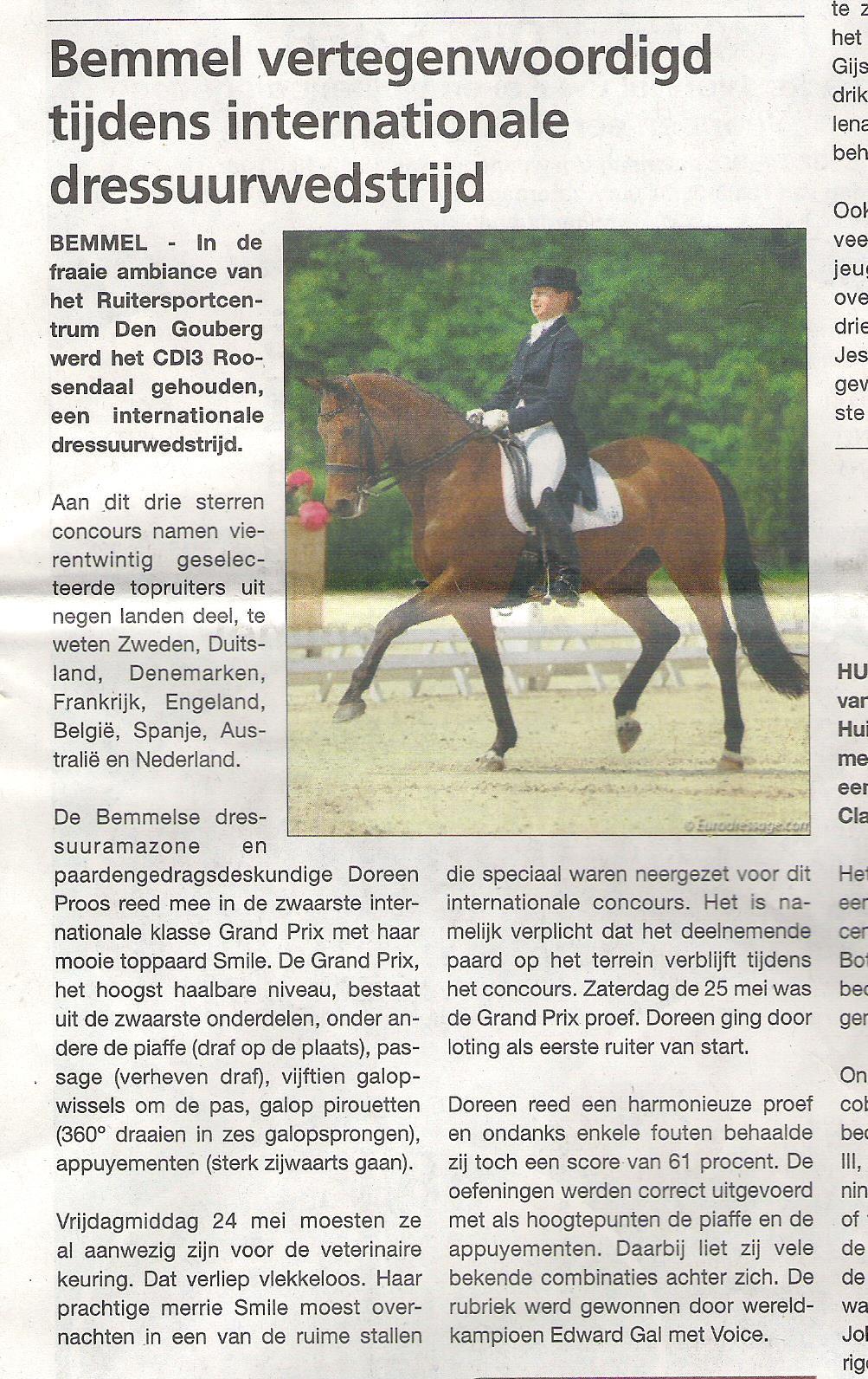 CDI3* Roosendaal Grand Prix internationaal
